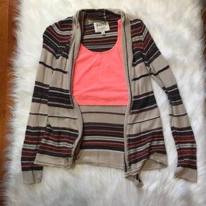 Billabong striped cardigan